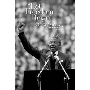 Nelson Mandela Let Freedom Reign Quote Political Poster 24 x 36 inches